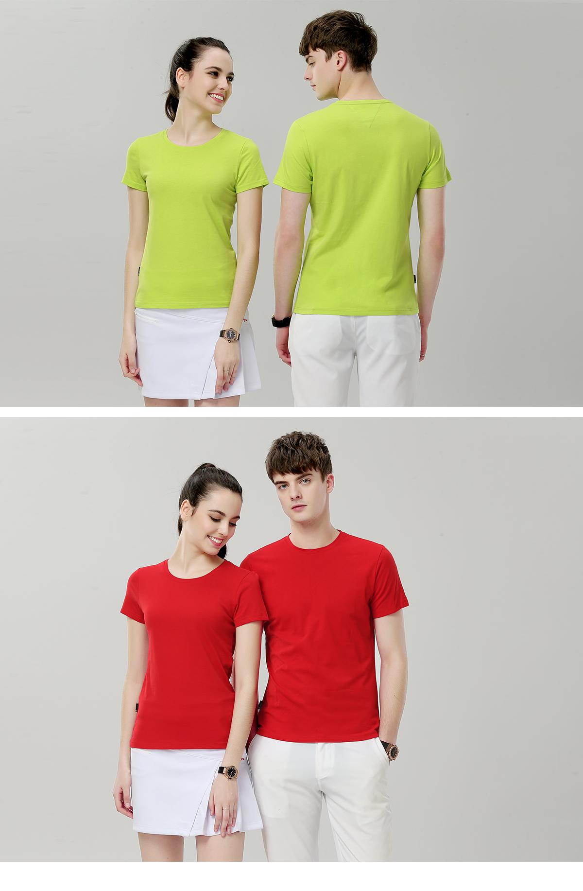 简约时尚圆领广告衫