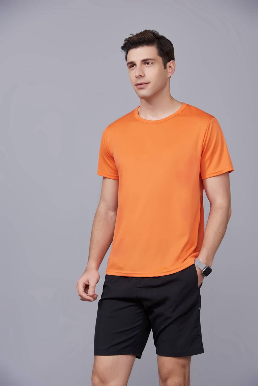 速干t恤定制 可定做印logo文化衫 新品橘色上市