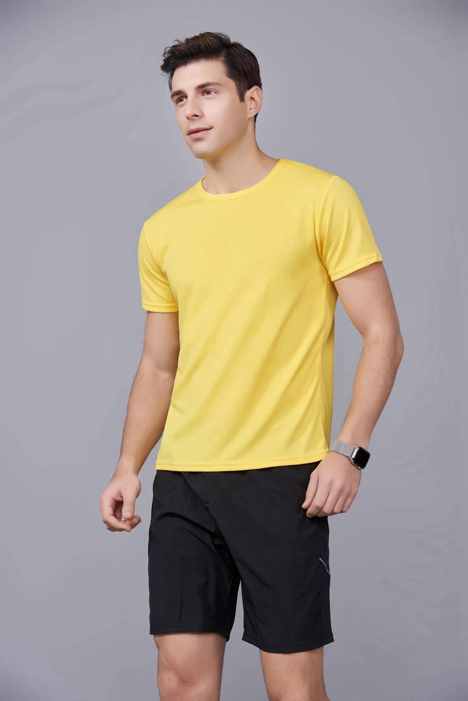 速干t恤定制 可定做印logo文化衫 新品黄色上市