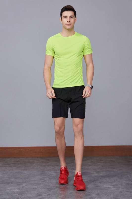 春夏季潮流新品 男士短袖上衣 时尚运动T恤衫  果绿色