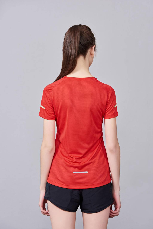 春夏季潮流新品 男女短袖上衣 时尚纯棉运动T恤衫 红色