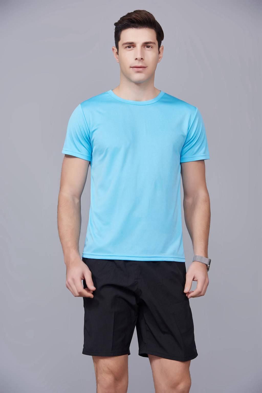 速干t恤定制 可定做印logo文化衫 新品天蓝色上市