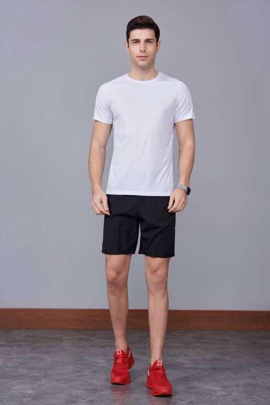 春夏季潮流新品 男士短袖上衣 时尚运动T恤衫  白色