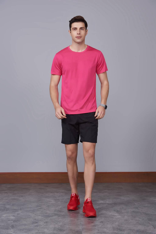 速干t恤定制 可定做印logo文化衫 新品玫红色上市