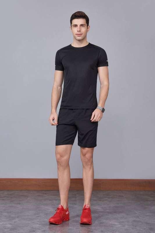 春夏季潮流新品 男士短袖上衣 时尚运动T恤衫  黑色