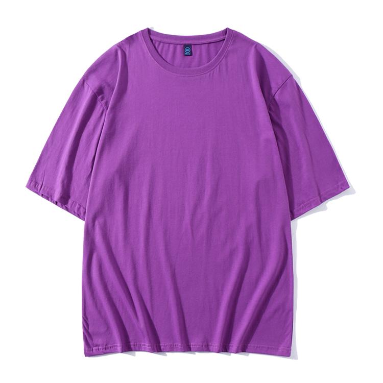 精梳棉五分袖圆领T恤